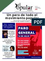 El Popular 355 Órgano de Prensa Oficial del Partido Comunista de Uruguay