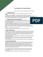 Method Statement for Titanium Pipework