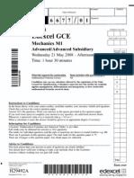 2008 June Qp Edexcel Mechanics-1 6677
