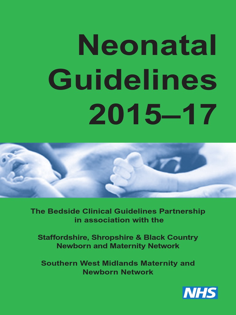 neonatal guidelines pdf 2015 17 with links 1 pdf evidence based