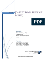 Case Study on the Walt Disney