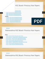 Maharashtra HSC Board- Previous Year Papers
