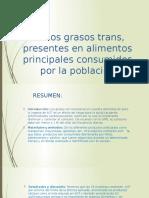 Ácidos Grasos Trans, Presentes en Alimentos Principales Diapos