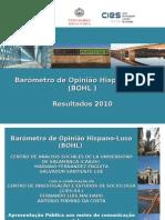 Barómetro de Opinião Hispano-Luso 2010 (Apresentaçâo)