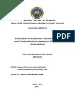 El Visto Bueno en la Legislación Laboral Ecuatoriana, como Trámite Administrativo para dar por Terminada la Relación Laboral