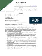 Dean Academic Affairs Assessment in New York Metro NY Resume Iain Fraser