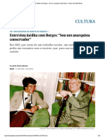 """Entrevista inédita com Borges- """"Sou um conservador"""""""