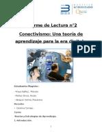 Reporte de Lectura Conectivismo Una Teoria de Aprendizaje Para La Era Digital.