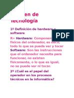 Examen de Tecnología Karina 1 de Secundaria