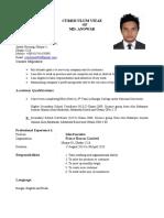 Resume of Anowar