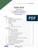 Process Evaluation Research Planning Program (Acetic Acid)