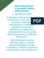 Filatelia Maçônica Selos postais sobre Maçonaria.docx