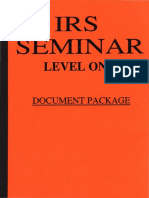 IRS Seminar Level 1, Form #12.027