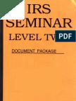 IRS Seminar Level 2, Form #12.032