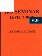 IRS Seminar Level 3, Form #12.034