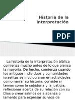 Historia de La Interpretación biblica