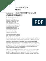 Leccion 1 Las Proteinas y Los Carbohidratos