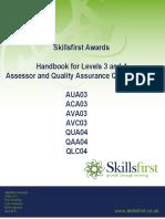 AUA03 ACA03 AVA03 AVC03 QUA04 QAA04 QLC04 Level 3 and 4 Assessor and Quality Assurance (QCF) v2 030512