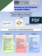 Las Contrataciones en Los Pip Capacitacion Ley 30225 - 2016