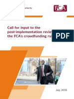 Financial Conduct Authority Call Input Crowdfunding Rules