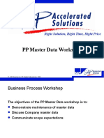 PP Master Data SAP