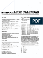 Occidental College Academic Calendar for 1980-81 School Year