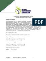 emergency medical services standards 1