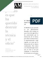 """""""El Gran Error Del Arte Contemporáneo Es Que Ha Querido Destruir La Técnica y El Oficio"""""""