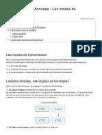 Transmission de Donnees Les Modes de Transmission 1131 Muqdp4