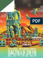 Cartelera del Festival Internacional Saltillo 2016