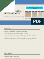 2. Relacion Agua - Suelo - Planta