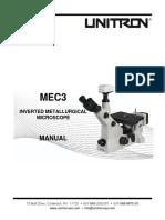 MANUAL MEC3 Inverted Microscope Series