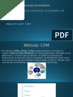 Método Cpm, Gantt y Pert Diapo
