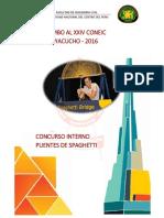 Bases Internas Puentes de Spaguetti 2016