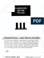 WSV Tenant Rules 1960s