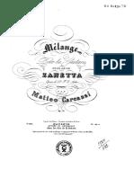 Matteo Carcassi - Melange Sur Les Airs de Zanetta Op.70