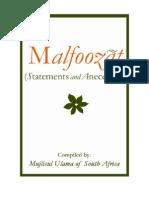 Malfoozat (Anecdotes) of Hadhrat Thanvi (r.a) by MAJLISUL ULAMA SOUTH AFRICA