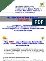 Taller Ley Promocion Banda Ancha Construccion Red Dorsal Nacional