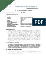 Sist801 - Control de Calidad de Softwarex Competencia Silabus