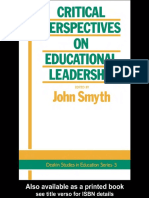 Critical Perspectives on Educational Leadership(1989)