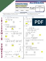 Exa - II Bimestre - Algebra. 04 y 05