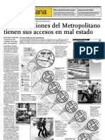 Varias estaciones del Metropolitano tienen sus accesos en mal estado