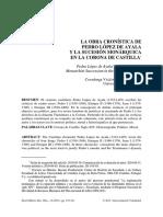 La Obra Cronistica De Pedro Lopez De Ayala Y La Sucesion Mona