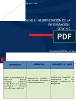 Mic Sesion9 2016-1 Analisis e Interpretacion