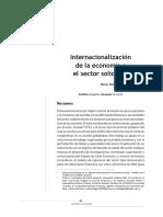 Internacionalizacion de La Economia y El Sector Solidario