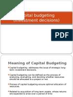 Capital Budegeting Unit 11