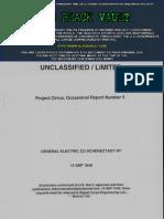 Project Cirrus Progress Report No. 5