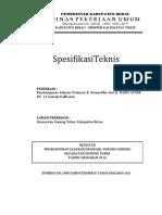 Spesifikasi Teknis Drainase Jl.siranuddin
