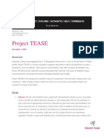 project tease-project proposal