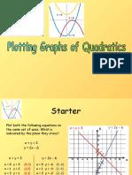 16) Plotting Quadratic Graphs